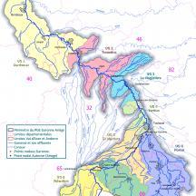PGE Garonne-Ariège - Les huit unités de gestion