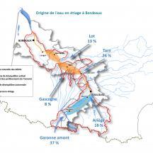 Carte origine de l'eau à Bordeaux