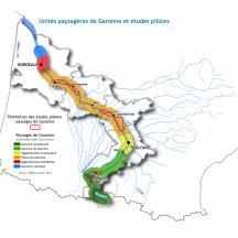 Carte unités paysagères de la Garonne